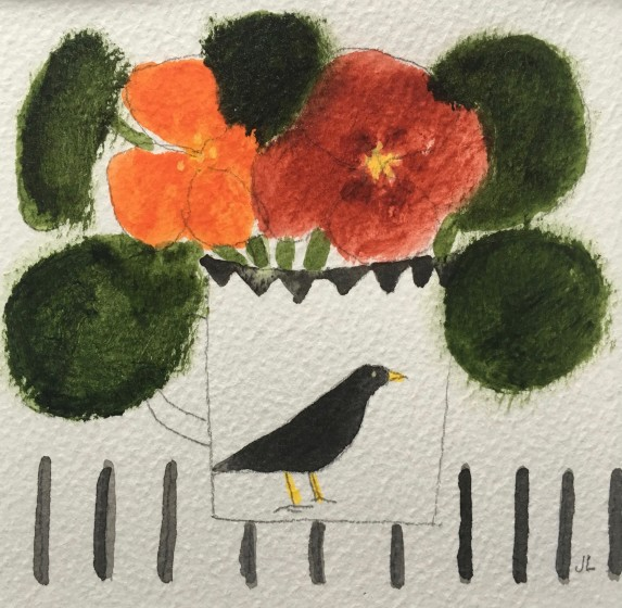 <span class=&#34;artist&#34;><strong>Jill Leman PRWS</strong></span>, <span class=&#34;title&#34;><em>Two Nasturtiums </em></span>