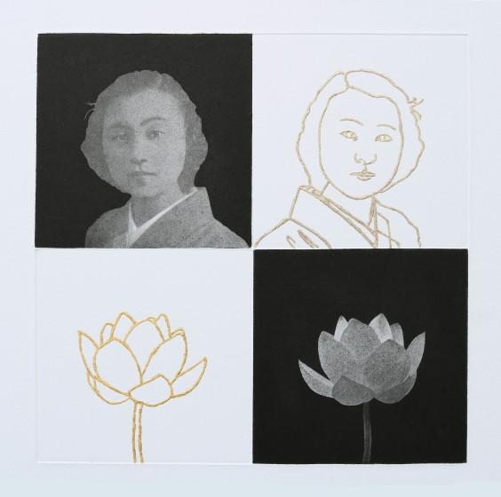 Emiko Aida RE Reflexion 1 etching & gold gilding 45 x 58.5cm 1/50