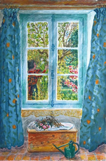 <span class=&#34;artist&#34;><strong>June Berry RWS Hon. RE</strong></span>, <span class=&#34;title&#34;><em>Tying up the Daisies</em></span>