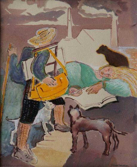 <span class=&#34;artist&#34;><strong>Sonia Lawson RA RWS</strong></span>, <span class=&#34;title&#34;><em>The Sketchers Return</em></span>
