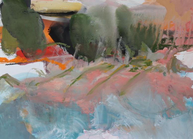 <span class=&#34;artist&#34;><strong>Julie D. Cooper ARWS</strong></span>, <span class=&#34;title&#34;><em>Wooded Shores</em></span>