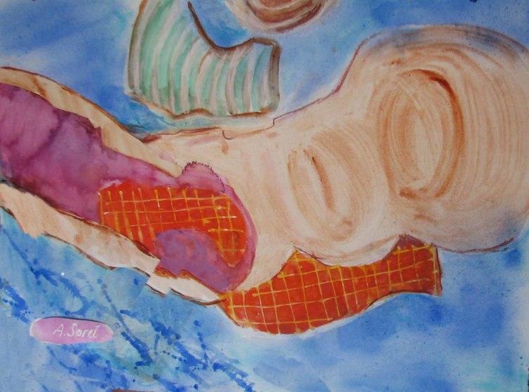 <span class=&#34;artist&#34;><strong>Agathe Sorel RWS RE</strong></span>, <span class=&#34;title&#34;><em>Sandy Beaches Lanzarote</em></span>
