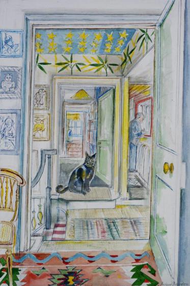 <span class=&#34;artist&#34;><strong>Richard Bawden RWS RE</strong></span>, <span class=&#34;title&#34;><em>The Top Landing</em></span>