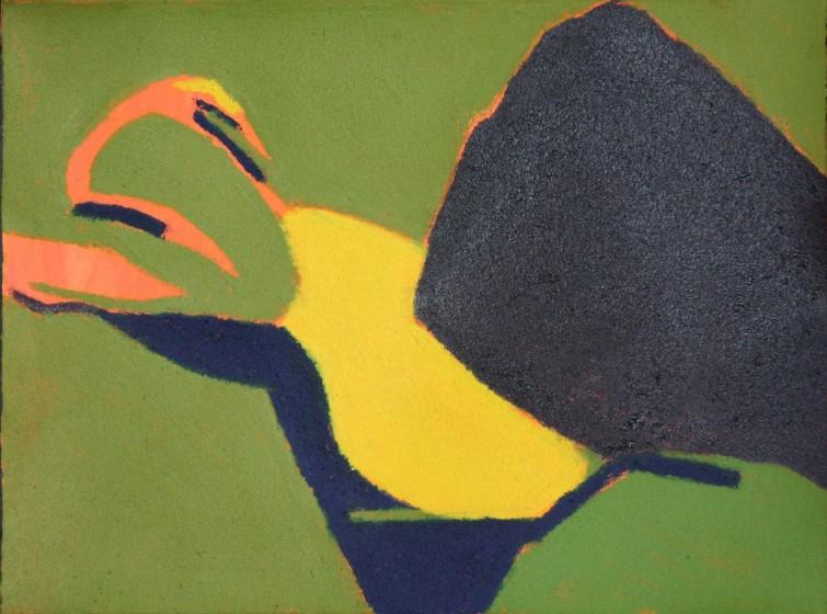 Ursula Leach RE Path hand-coloured carborundum print 47 x 55cm 2/10