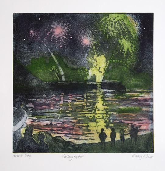 Hilary Adair RE Falling Rocket etching & aquatint 51 x 49cm 4/20