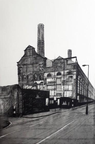 Melanie Bellis ARE Lots Road Power Station etching 62 x 81cm 1 / 30