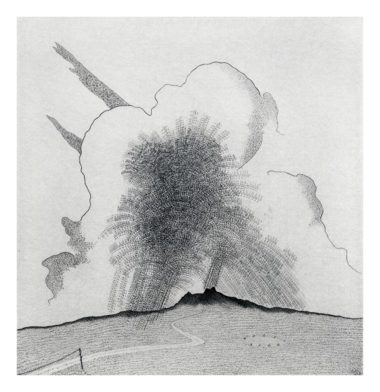 Brian Hanscomb RE Cloudburst over the Moor copperplate engraving 30.5 x 32.3cm 15/95