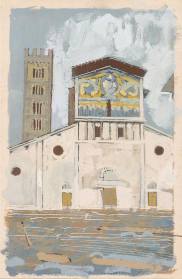 <span class=&#34;artist&#34;><strong>David Cass ARWS</strong></span>, <span class=&#34;title&#34;><em>Lucca as Florence (Flash Flood, 1966)</em></span>