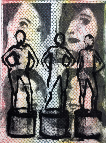 Corinna Button RE Showtime II carborundum collograph 82 x 65cm 1/20