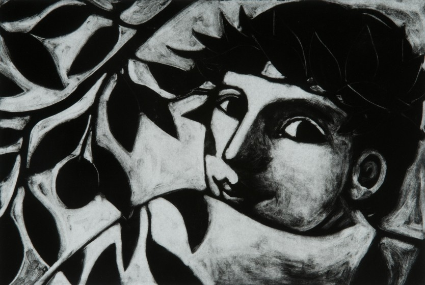 Anita Klein PPRE Hon. RWS The Plum Tree photo-polymer etching 53 x 69cm 7/15