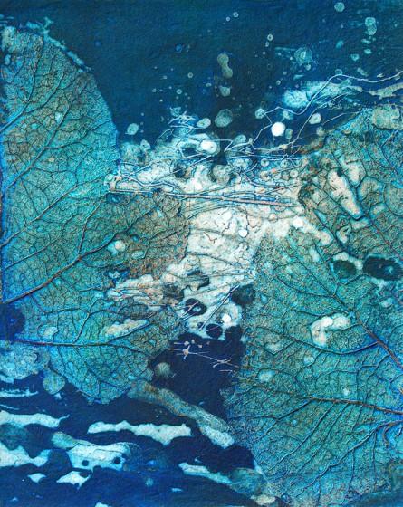 Brenda Hartill RE Waterlands III collagraph 86 x 56cm 12/100