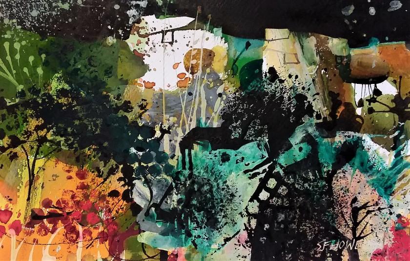 <span class=&#34;artist&#34;><strong>Sue Howells ARWS</strong></span>, <span class=&#34;title&#34;><em>Abandoned Farm Carts</em></span>