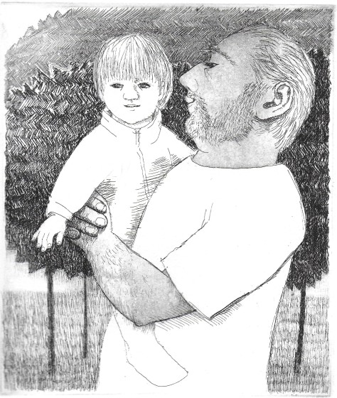 Frans Wesselman RE Baby II etching 42.5 x 37.5cm 1/20