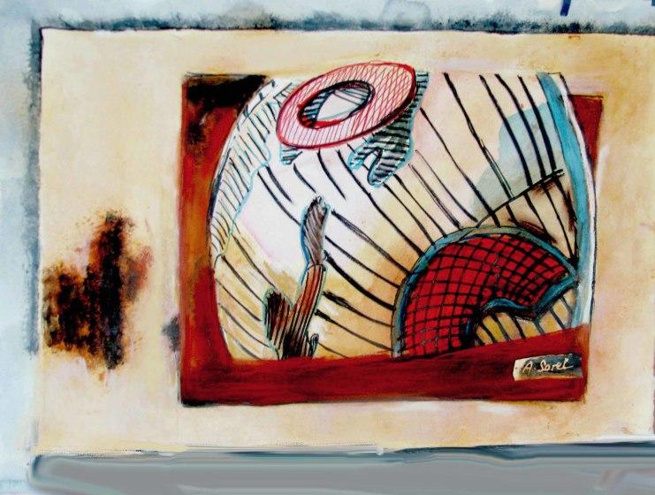 <span class=&#34;artist&#34;><strong>Agathe Sorel RWS RE</strong></span>, <span class=&#34;title&#34;><em>Curved Sky Lanzarote</em></span>