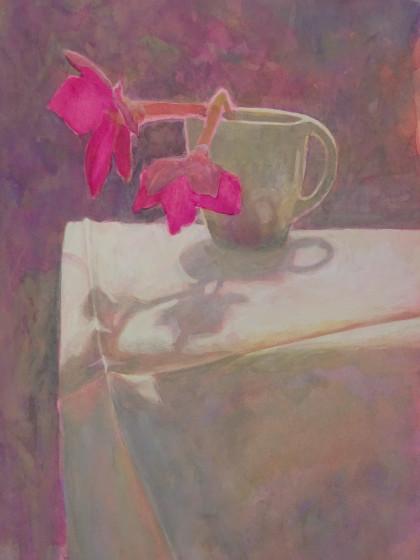 <span class=&#34;artist&#34;><strong>Sarah Holliday RWS</strong></span>, <span class=&#34;title&#34;><em>Nicotiana Against The Light</em></span>