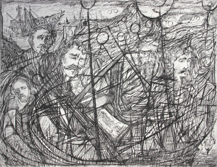 Neil Pittaway RWS RE Line Makers etching 53 x 64cm 1/30
