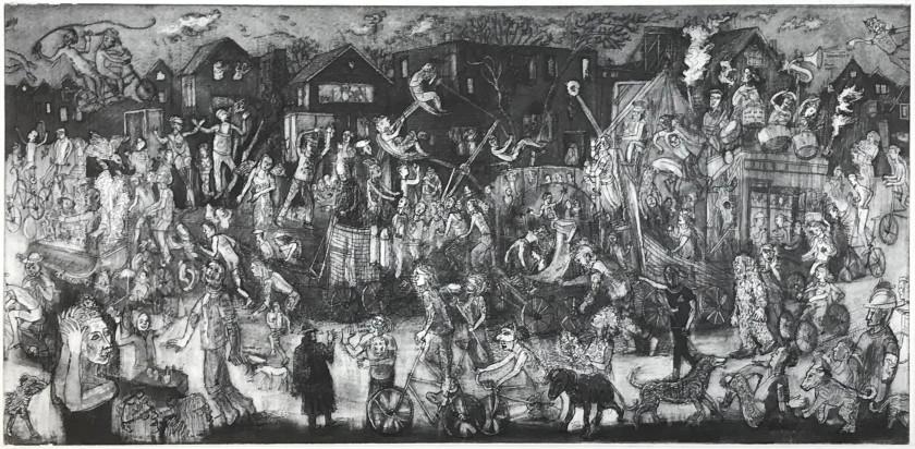 James Boyd Brent RE Procession intaglio 35 x 50cm 2/25