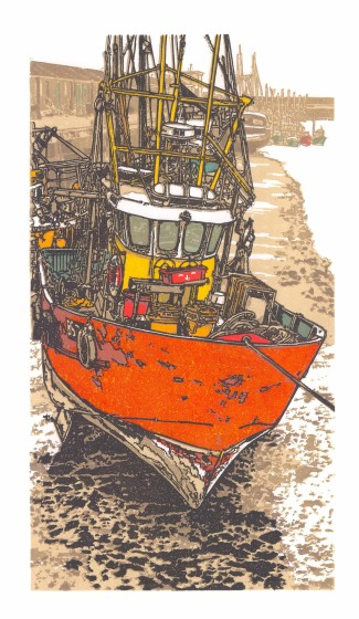 H Jackson RE High and Dry linocut 74 x 49cm 5/80