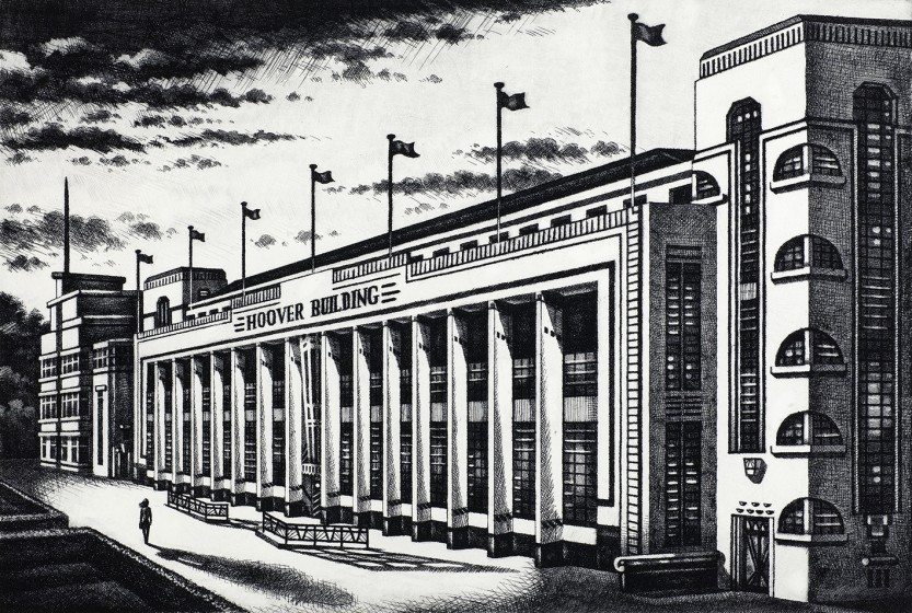 John Duffin RE Hoover Building etching 60 x 75cm 5/150