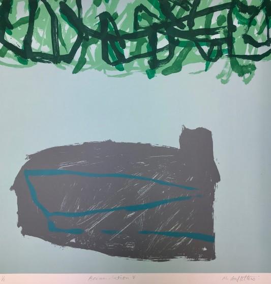 Michelle Griffiths RE Accumulation V screen monoprint 64 x 63cm 1/1