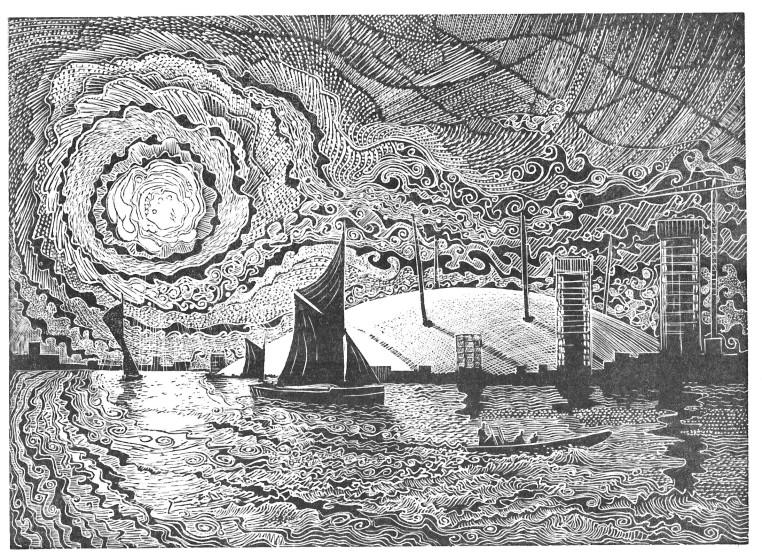 John Bryce RE Dome wood engraving 27 x 32cm 2/50