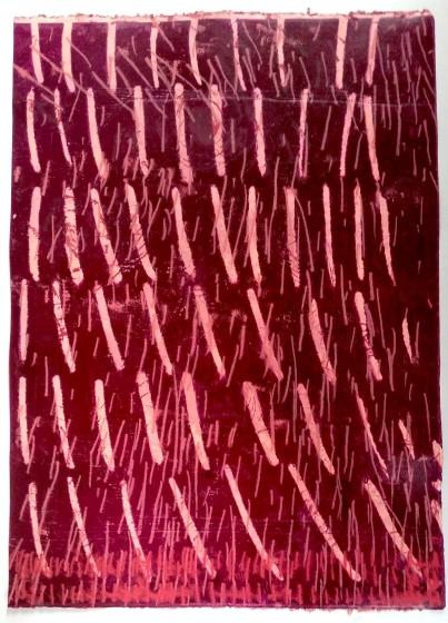 Helen Hayward ARE Paul Kindersleys hairs in Gods exquisite rays of light monoprint 80 x 60cm 72.5 x 51.5