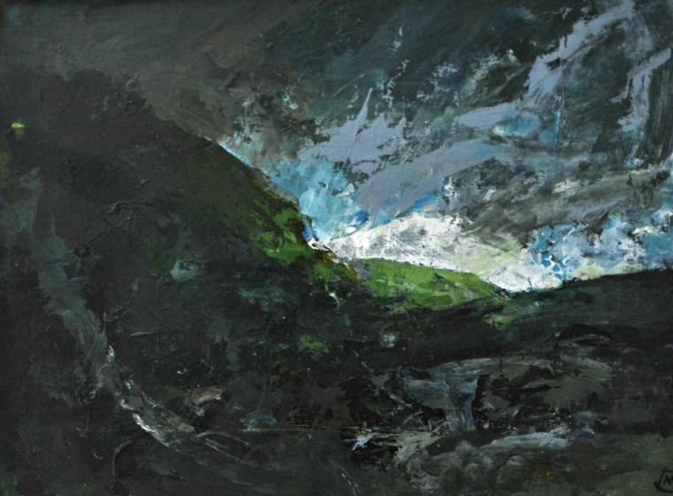 <span class=&#34;artist&#34;><strong>Colin Merrin RWS</strong></span>, <span class=&#34;title&#34;><em>Storm Over Gran  Sasso 4</em></span>