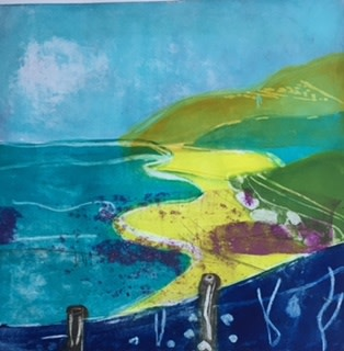 Louise Davies RE The Call of the Sea etching & collograph 75 x 75cm 1/75