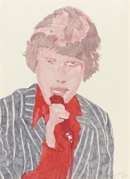 Mick Jagger, 1966, felt tip pen, 33.5 x 24 cm