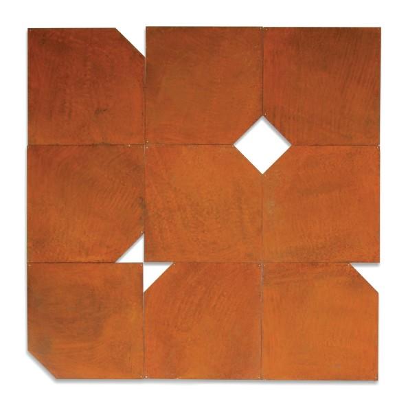 Turning the Corner, 2000, corten steel, 89 x 89 cm