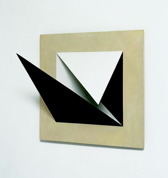 Diagonals of a Square, 1974, oil on plywood, 53 x 58 cm