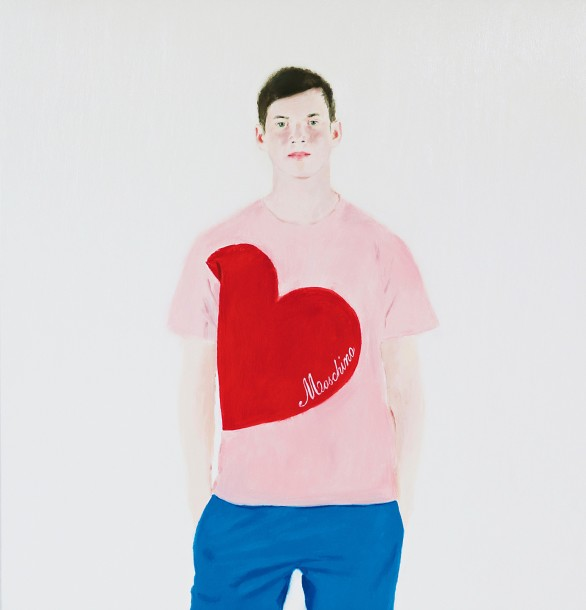 Alessandro Raho, Ben, 2015, oil on canvas, 141 x 139 cm. Courtesy of Alison Jaques Gallery.