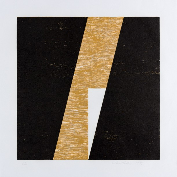 Within a Square III, 1989, woodblock print, 40 x 40 cm (sheet)