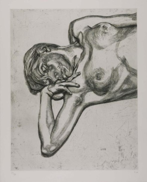 Lucian Freud, Head and Shoulders of a Girl, 1990, etching, 78 x 63.5 cm, edition of 50