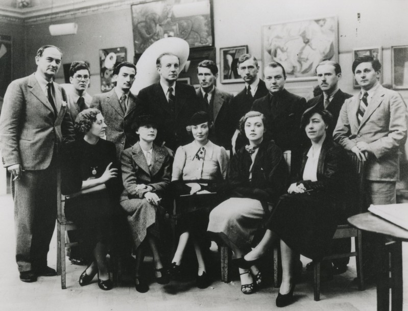The Surrealist Group, London, 1936 (Agar front row, centre)