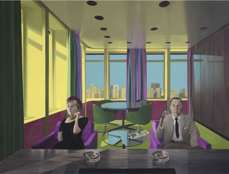 Neil Stokoe, Two Figures in a Room IV, oil on canvas, 243.8 x 281 cm