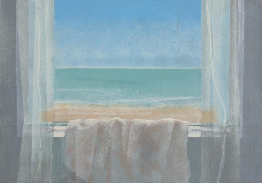David Tindle RA, 'Window By The Sea', Gouache on board, 35 x 50cm
