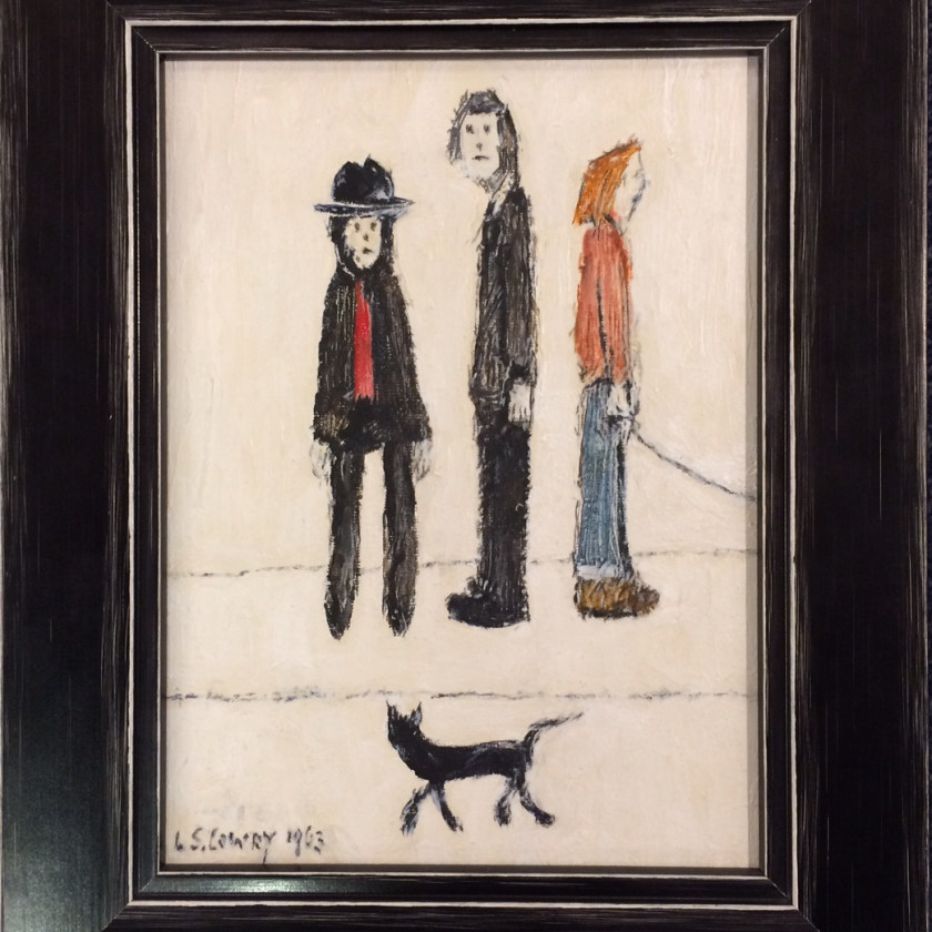 LS Lowry - Three Men And A Cat, 2018