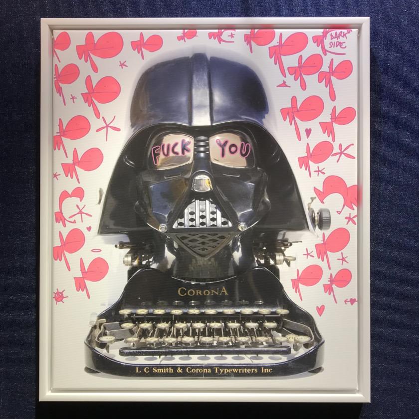 F**K You Corona - Tagged Darth Typewriter- Darkside, 2020