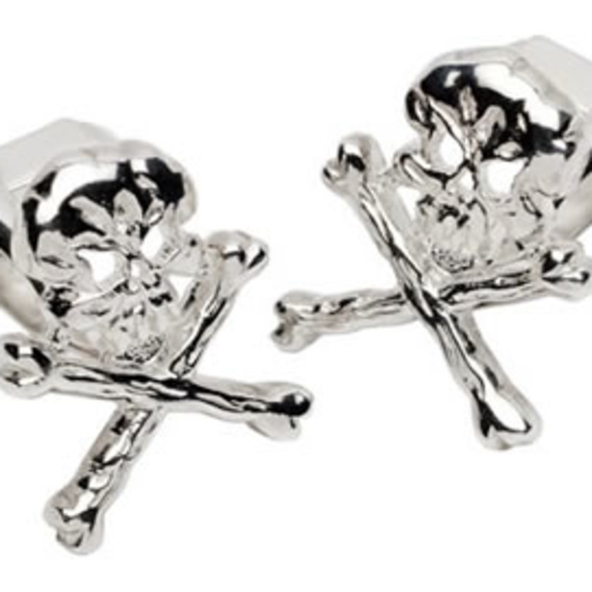 Bad To The Bone Sterling Silver Cufflinks