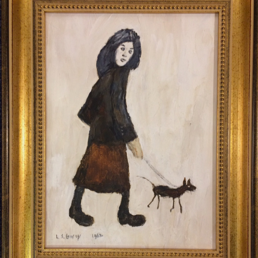 LS Lowry - Girl And A Dog, 2018