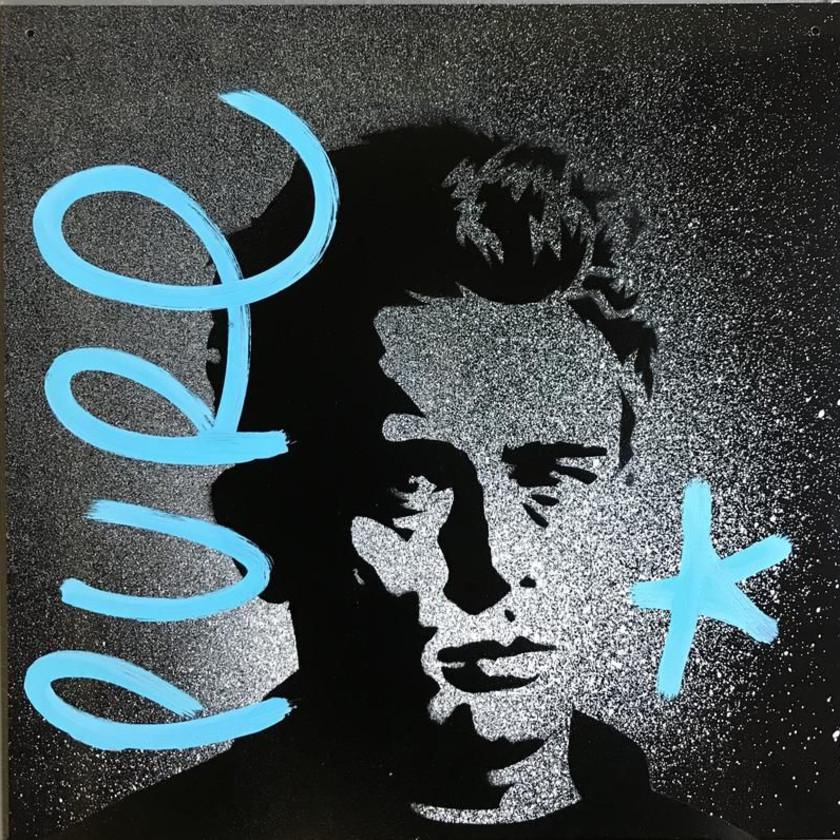 Rebel Rebel - James dean B/W Stencil