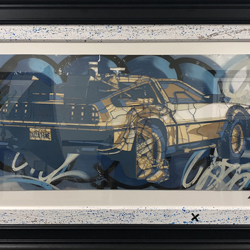 DeLorean Stencil, 2018