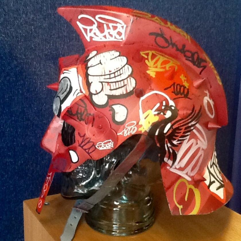 Vandal Helmet - Red, 2018