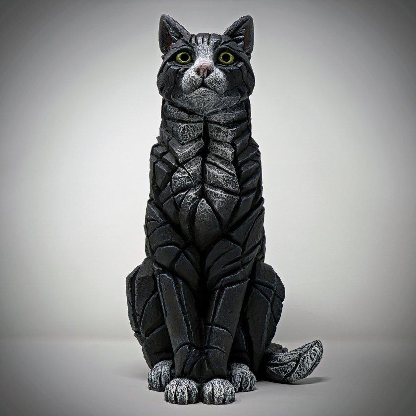 Cat Sitting - Black & White Sitting, 2018
