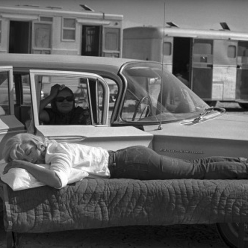 Resting On The Set of The Misfits, 1960, 2007