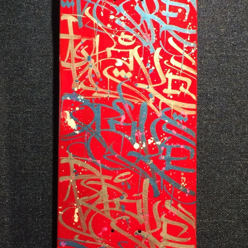 Skate Board Red & Gold, 2019