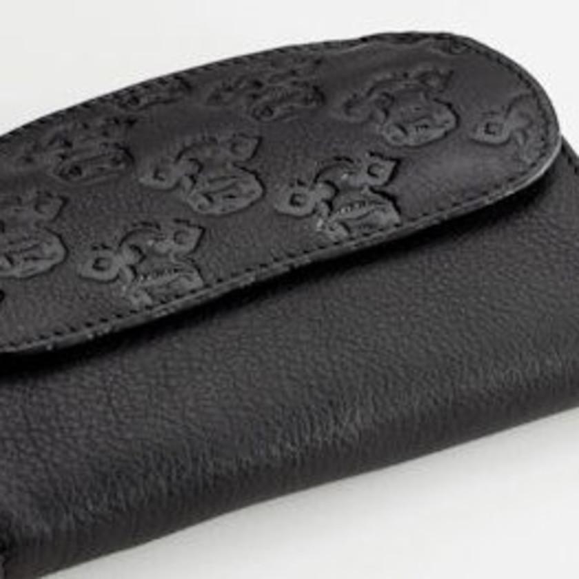 Moo! - Black Leather Ladies Purse