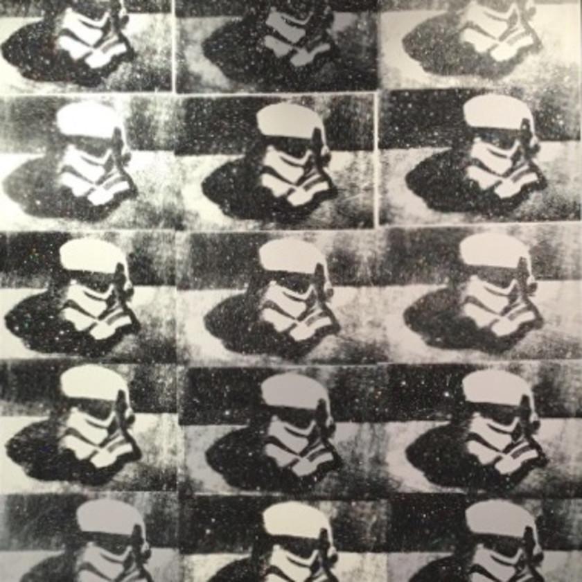 Stormtrooper Helmet - Canvas B/W