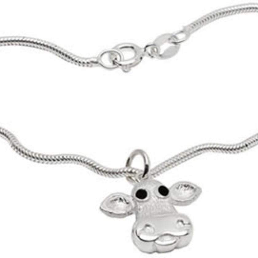 Moo! Sterling Silver Bracelet